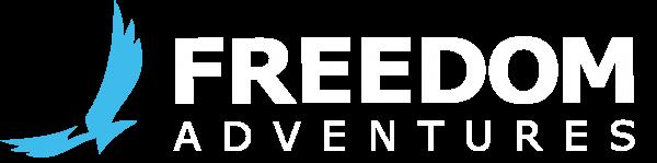 Freedom Adventures Logo - White